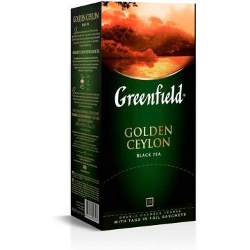 Greenfield Golden Ceylon Té Negro, 25 bolsitas (2g x 25)