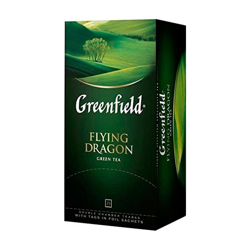 Greenfield Flying Dragon Té Verde, 25 bolsitas (2gx25)